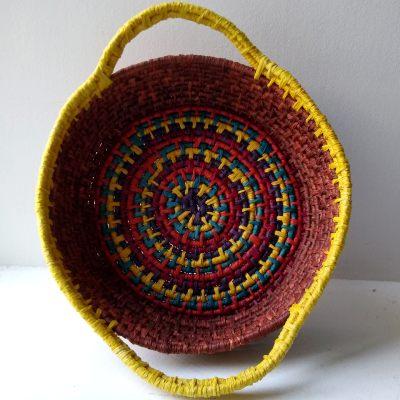 Raffia Coiled Basket 1