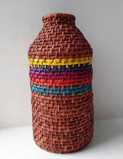 Raffia Coiled Basket Bottle