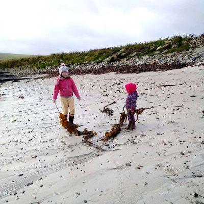 gathering-seaweed-for-our-hugelkultur-bed