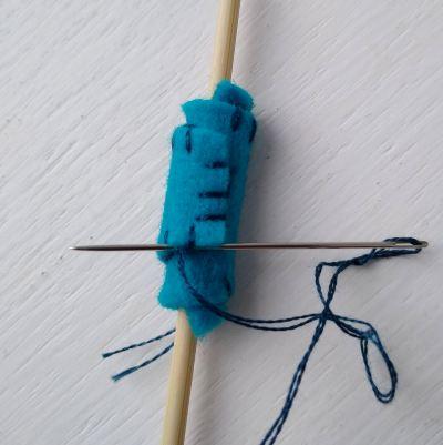 making-felt-beads