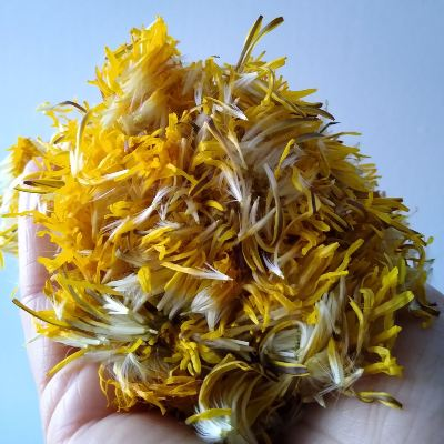 making-beads-with-dandelion-petals